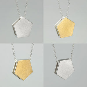 3456∞ / Double Faced Pentagon Necklace - beeshaus