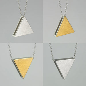 3456∞ / Double Faced Triangle Necklace - beeshaus