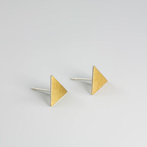 Thin Triangle Keum-boo Earrings - beeshaus