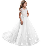 Flower Girl Dresses Butterfly  Fancy Tulle Lace Short Sleeved Pageant Dress princess dress Ball Gown Formal Party