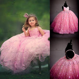 Flower Girl Dresses Evening Dresses Star Bling Long Formal Dress Ball Gown First Communion Dresses