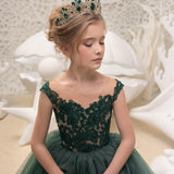 Flower Girls Dresses First Communion Dresses Party Prom Princess Gown Pageant Dresses for 2-10 Years