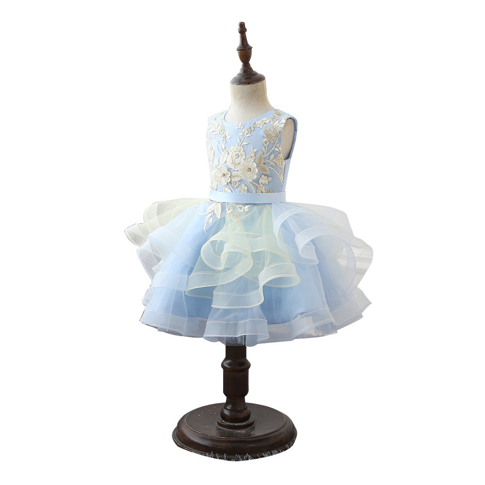 Flower Girl Dress Little Girls' Sequin Mesh Tull Dress Sleeveless Flower Party Ball Gown Party Flower Dresses For Kids