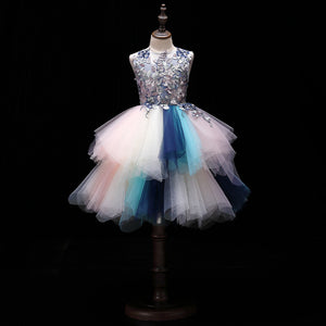 Flower Girl Dress Colorful Dress Pageant Ball Gown Tutu Dresses Evening Formal Party  Dress up for Girls 2-12 Year Old