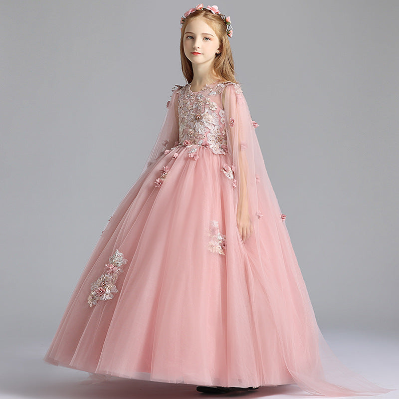 Flower Girls Kids Dress Elegant Formal  Evening Clothes Pageant  Party Prom Princess Gown for Girls 2-12 Year Old