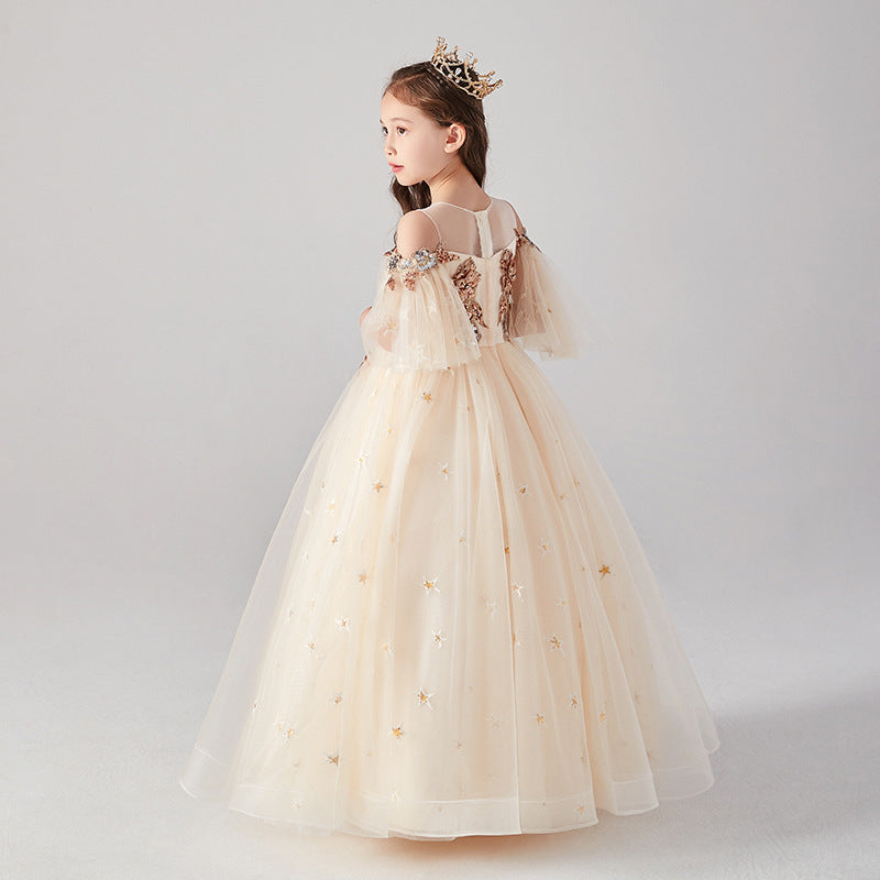 Flower girl dress formal party princess ball gown prom dresses for birthday for 2-12 Year Old kids