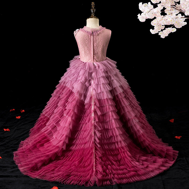 Colorful Flower Girl Dresses for Party Sleeveless Floor Length Tulle Ball Princess Gown For 2-12 Year Old