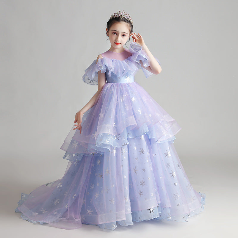 Flower girl dresses Formal Ceremony Girls Clothing Evening Infant Princess Party Dresses For Girls Four colors