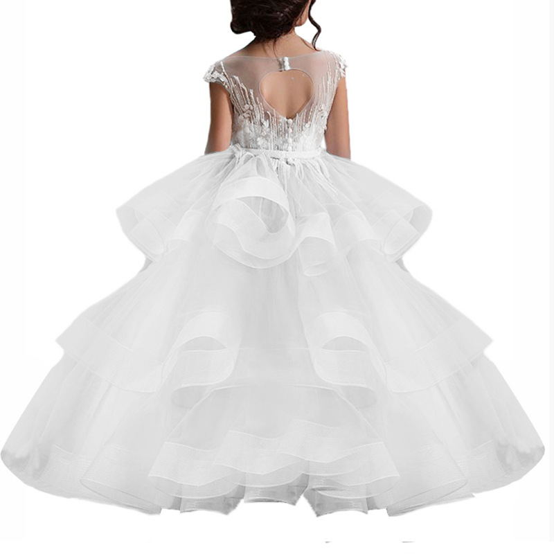 Flower girl dresses Long little Girls for Kids Prom Ball Gown Formal Birthday Party Long Dresses For 2-12 Year Old