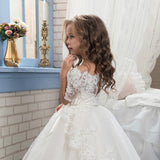 Flower girl dresses  Little Big Girls Lace Tulle  Flower Girl Dress Junior Dress for Pageant Birthday Party