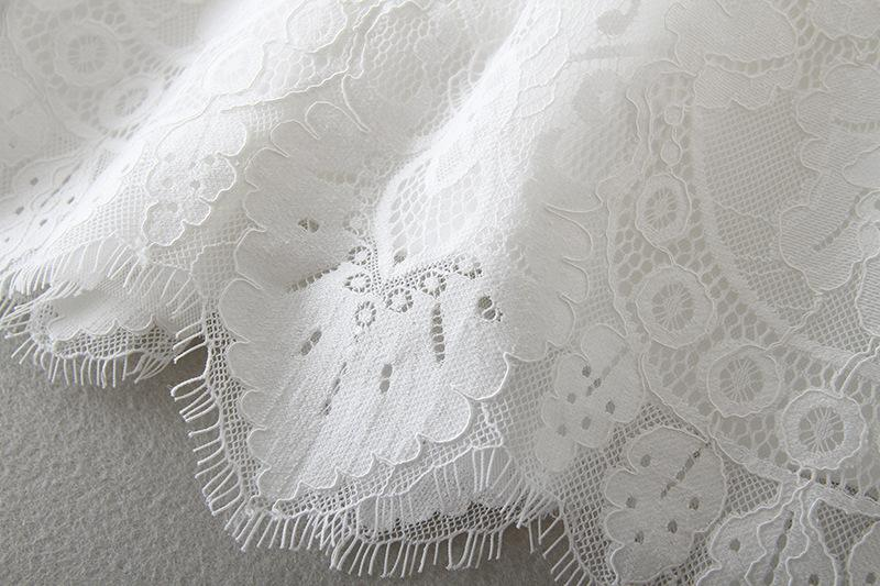 Flower Embroidered Lace Short Sleeve Dress Christening Baptism Gowns for Toddler and Baby Girl