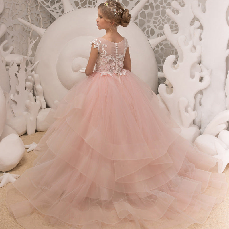 Flower girl dresses Pageant Princess Flower Dress Prom Puffy Ball Party Formal Dance Ball Gowns