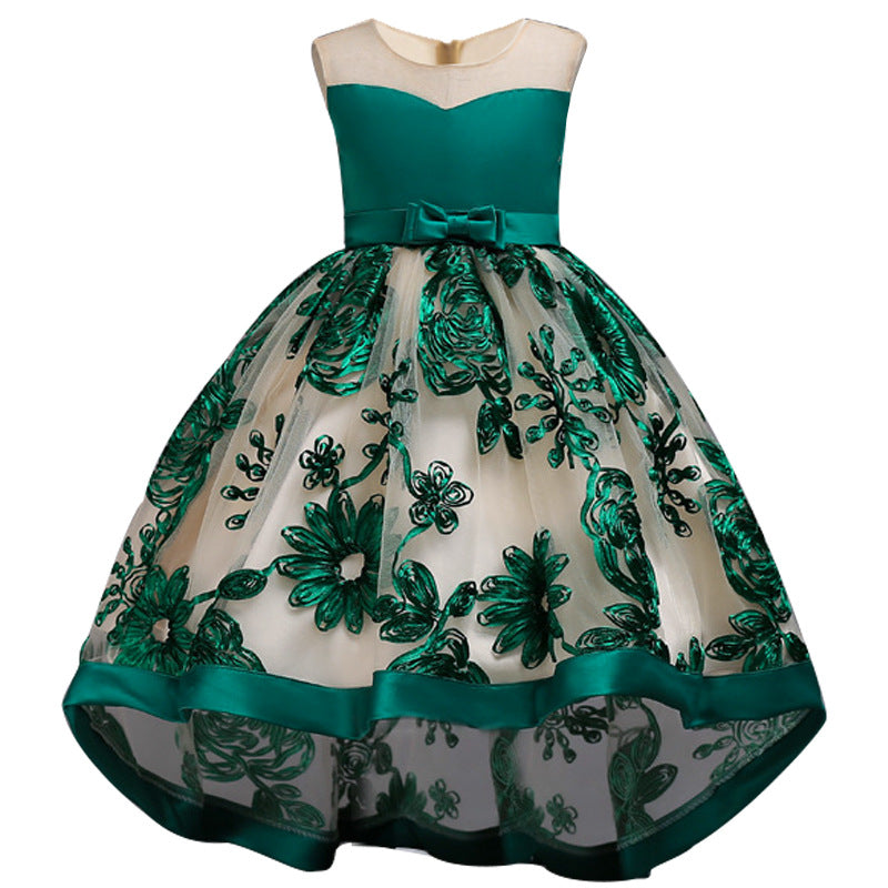 Flower girl dresses Birthday Party Dresses Kids Lace Beaded Pageant Ball Gowns  Age 3-12Y