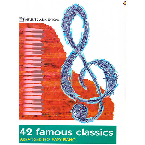 42 Famous Classics Arranged for Easy Piano Book singapore sg