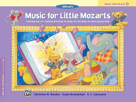 Alfred Music for Little Mozarts ( Music Workbook ) Book 4