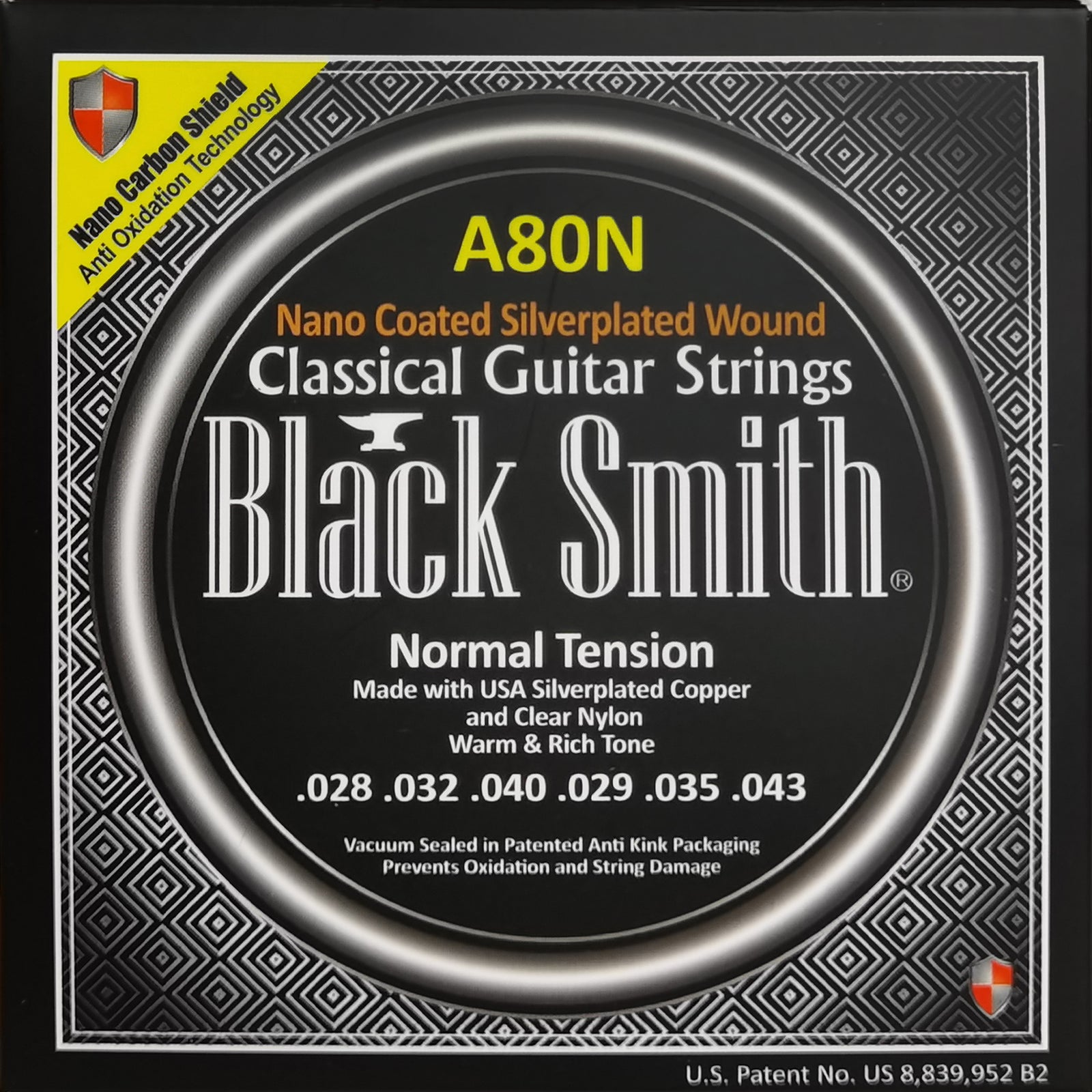 Black Smith A80N Nano Coated Class Gtr String