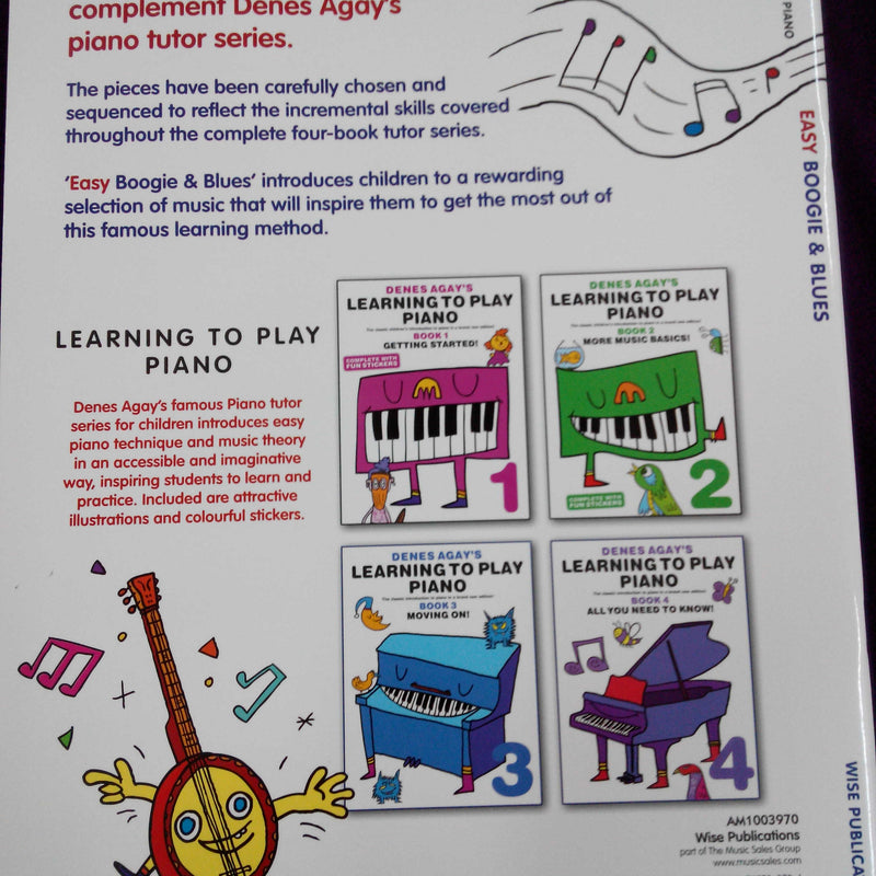 Denes Agay's Learning to Play Piano - Easy Boogie & Blues Book