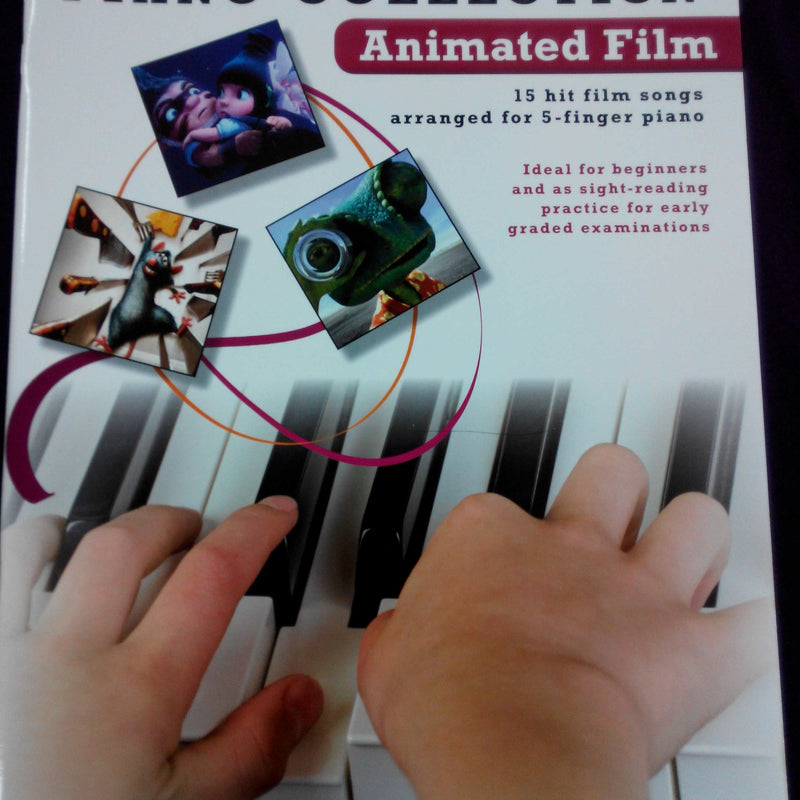 Easiest 5 Finger Piano Collection Book - Animated Film