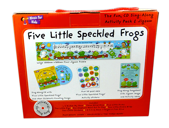 Five Little Speckled Frogs - Activity Pack with CD