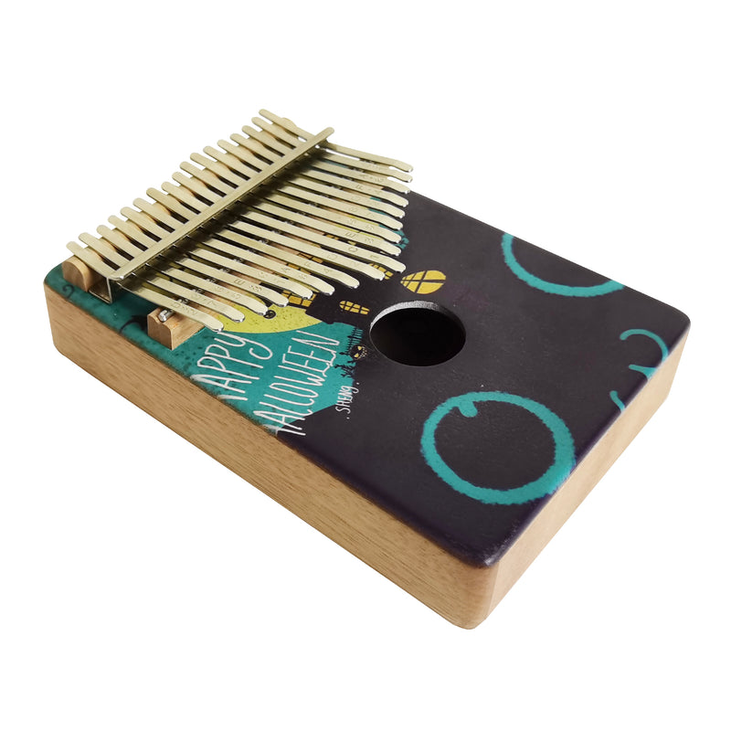Kalimba 17 keys Thumb Piano - Peach Core Veneer (Halloween)