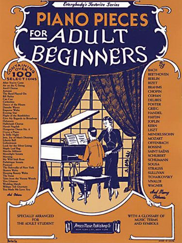 Piano Pieces for Adult Beginners Book