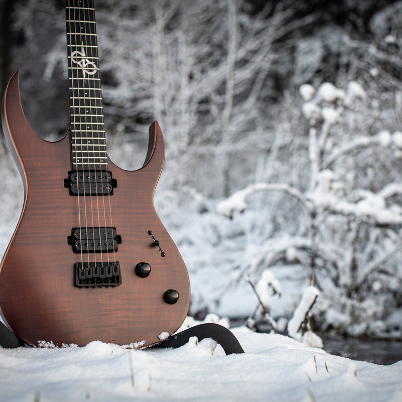 SOLAR S2.6FWA Electric Guitar - Flame Walnut Matte