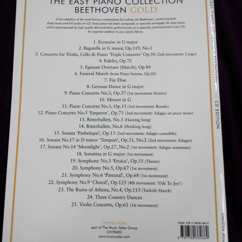 Easy Piano Collection - Beethoven Gold (Book with CD)