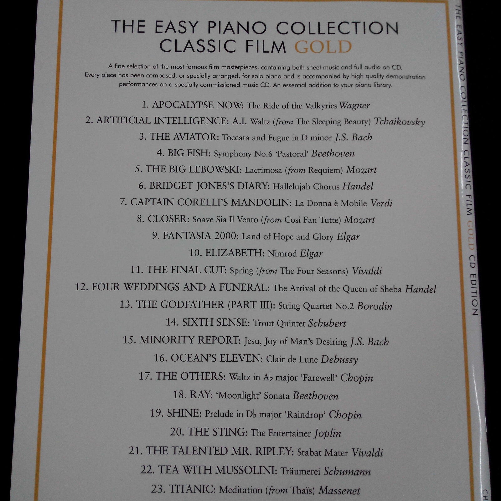 Easy Piano Collection - Classic Film Gold (Book with CD)