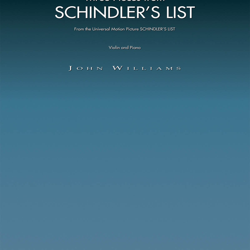Three Pieces from Schindler's List (Violin and Piano Book)
