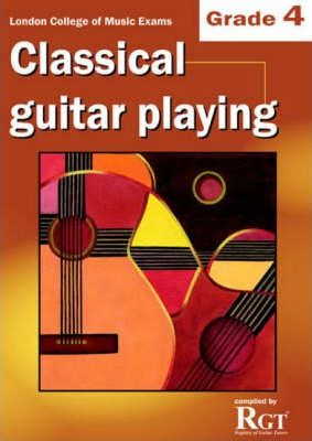 LCM Exam (2009~2018) - Classical Guitar Playing - Book Grade 4 singapore sg