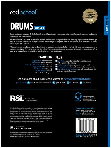 Rockschool Drums - Grade 6 (2018+)
