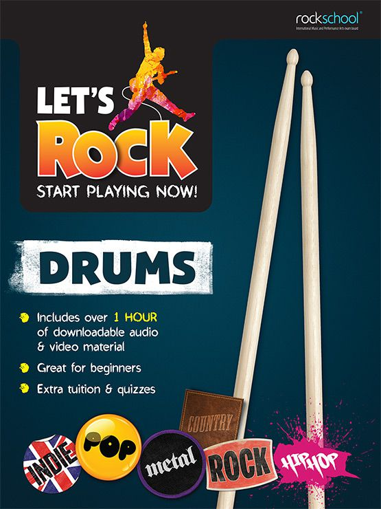 Rockschool Let's Rock Start Playing Drums Book singapore sg