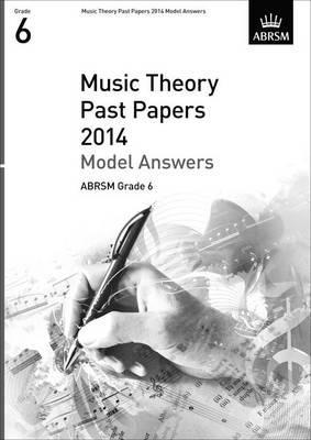 2014 Music Theory Past Papers - Book Grade 6 (Model Answers) Singapore sg