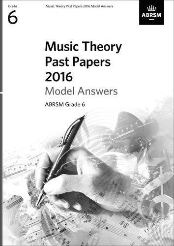 2016 Music Theory Past Papers (Model Answers) - Book Grade 6 singapore sg