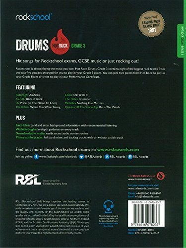 Rockschool Hot Rock Drums - Grade 3 (2014+)