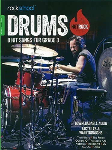 Rockschool Hot Rock Drums - Book Grade 3 singapore sg