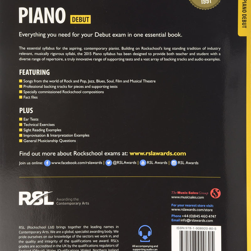 Rockschool Piano - Debut (2015+)