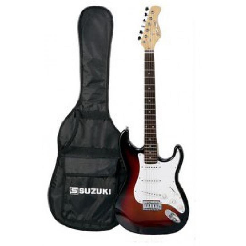 SUZUKI SST1 Electric Guitar Package (Cherry Sunburst)