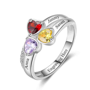 d662cbbd7c amily ring birthstones ring best 2019 rings mothers ring with birthstones  love ring heart ring personalized