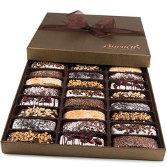 Gourmet Biscotti Gift Box - Chocolate, Caramel, Almonds & More.