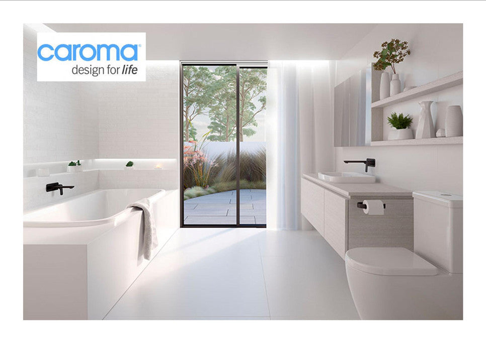 Caroma designed for life. The Coroma Range available at West Hobart Plumbing Centre.