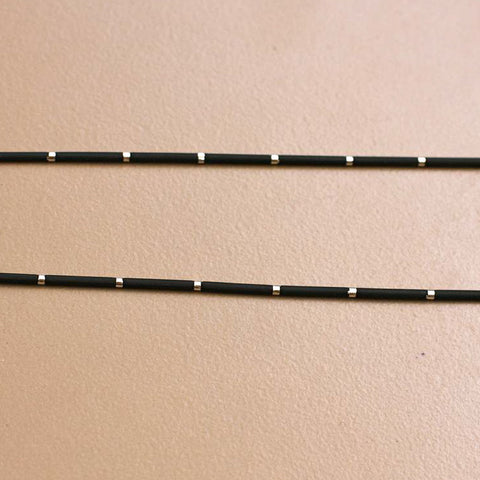 Black Rubber & Silver Necklace - SilverBellas