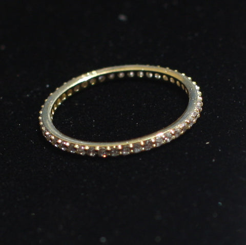 Stacking Ring Gold Zircon - SilverBellas