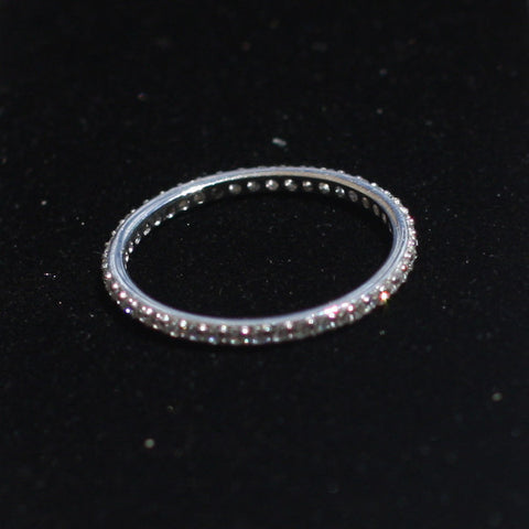 Stacking Ring Silver Zircon - SilverBellas