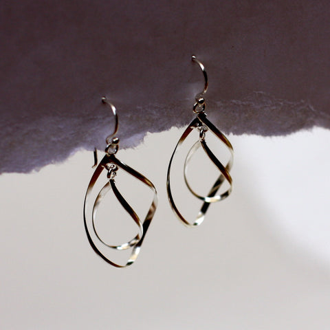 Silver Spiral Earrings - SilverBellas