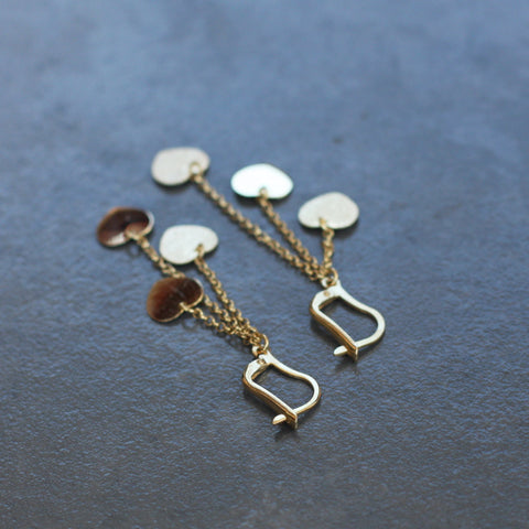 Gold Heart Earrings - SilverBellas