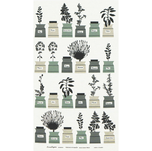 Tea towel Persons Spices Grey