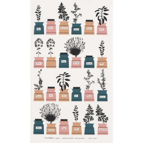 Tea towel Persons Spices Pink