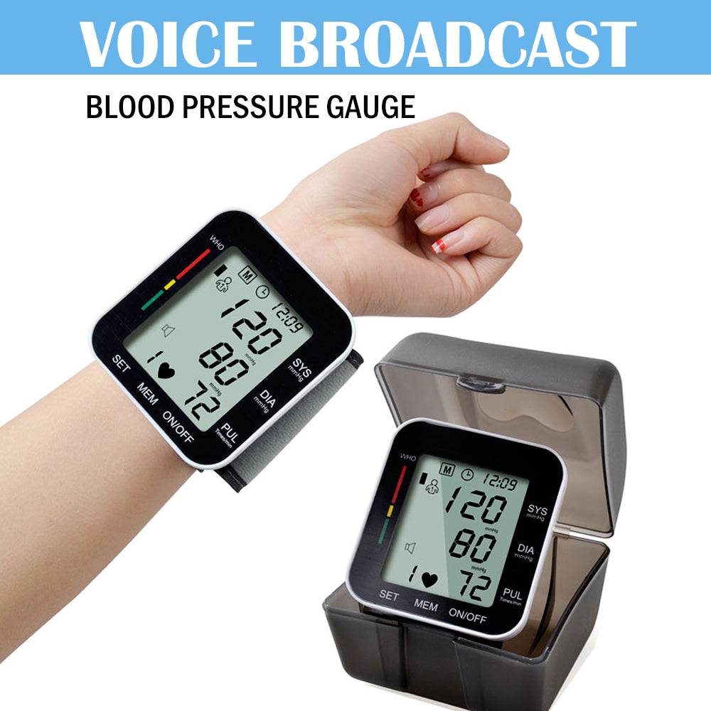 Blood Pressure Monitor Cuff Wrist Sphygmomanometer Automatic - MEDICAL EQUIPMENT