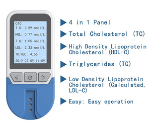 HOME cholesterol METER .cholesterol (TC) high density lipoprotein cholesterol (HDL) &triglyceride (TG) cholesterol - MEDICAL EQUIPMENT